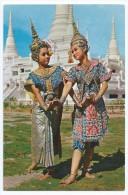 "Cpsm-cpm Bon Etat 10.5x15cm,  Thailande , Thal Actor And Actress A Posture ""lakorn "", Timbres Courrier Verso - Thaïland"