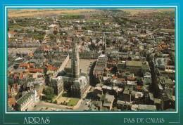 ARRAS : Vue Aérienne :Place Des Héros, Beffroi, Hôtel De Ville, ...(voitures) - Arras