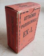 ANCIENNE BOITE:  ATTACHE  PARSIENNE EX. L. Frabrication Française - Achetez Français Utilisez La Punaise BAÏONETTE - Boxes
