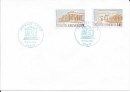 TIMBRES N° 98/99  - 1ER JOUR D'EMISSION   -  1987  -  UNESCO   -  TIMBRE SERVICE - 1980-1989