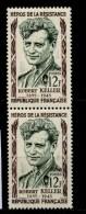 FRANCE  Héros De La Résistance Robert Keller   Paire    N° Y&T  1102  ** - Ungebraucht