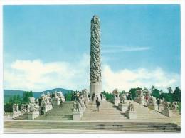 Cpsm-cpm Bon Etat 10.5x15cm, Norvège    The Monolith In The Vigeland Sculpture Park