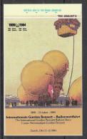 Vignetten Schweiz: Aufkleber 75 Jahre Internationale Gordon Bennett Ballonwettfahrt Zürich 1984 Ballon Werbung Reklame - Autocollants