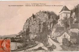 Cpa 24 LA ROQUE-GAGEAC  Chateau De La Malartrie Et Rochers De Marqueyssac , Automobile Ancienne , Très Bon état - France