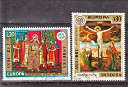 Andorre 243 244 Europa 1975 Oblitérés Used Cote 15.25 - Usati