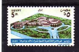 "EGYPTE   1989   MNH   -  "" CENTRE DES CONFERENCES INTERNATIONALES ""  -   1 VAL. - Égypte"