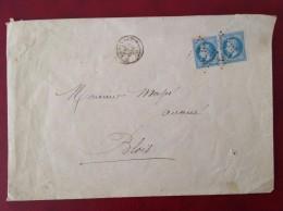 Cad St SAINT AIGNAN SUR CHER GC 3479 Pour Blois 1870 - Marcophilie (Lettres)