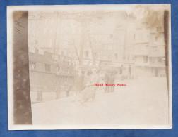 Photo Ancienne - Port à Identifier - Bateau Ancien - Bretagne ? - Début Ou Avant 1900 - Bateaux