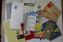 Expo ´58 / Brussel - Bruxelles - Brussels / 2 Kg. Documenten, Folders, Briefpapier, Pers, Kaftjes, ... - Historische Documenten