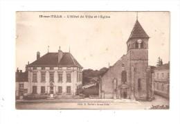 CPA  21 - Is sur Tille : H�tel de ville & eglise : tampon commandant 62� r�giment infanterie 1er Bataillon