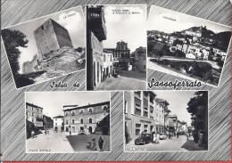 --SALUTI DA SASSOFERRATO -- VERA FFOTOGRAFIA -- 1958 - Ancona