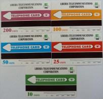 LIBERIA - Bandiera - Urmet - Complete Set Of 5 - 10 To 200 Units - Mint - Liberia