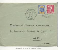 De Bouzarea-A Pour Albi - Storia Postale