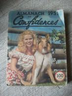 Almanach  1951 De Confidences Illustré Publicités Romans Humour - Otros