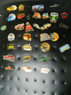 31 Pin's - Voitures - Marques - Bus - Formule 1 - Camions - Mercedes - Citroën - Elf - Nissan - Marlboro - Alain Prost - Pin's