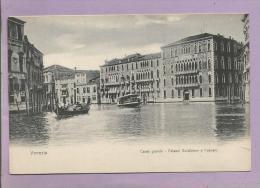 ITALIE - VENEZIA  - Canal Grande - Palazzi Guistinion E Roscari  - CPA - 2 Scans - Venezia