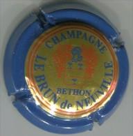 CAPSULE-CHAMPAGNE LEBRUN DE NEUVILLE N°14 Contour Bleu Lettres épaisses