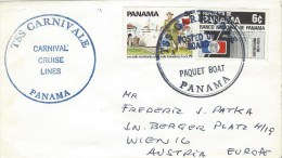 Panama 1980 Paquebot Posted On Board TSS Carnivale Cruise Lines Cover - Panama