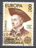 Europa 1980 Andorre Espagnol YT N°124 Personnages Célèbres Oblitéré ° - Europa-CEPT