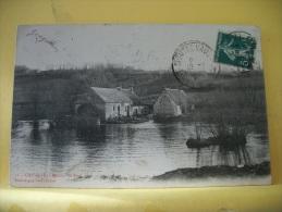 72 06 - CPA - CHEVILLE - MOULIN DU PONT - 1910 -  (VOIR SCANS RECTO / VERSO) - Autres Communes