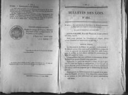 Bulletin Des Lois Du 6 Août 1839 - 176 Ans D´âge ! - Transport Des Correspondances Entre La France Et Les Indes-oriental - Décrets & Lois