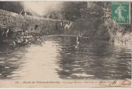 CPA 02 VILLERS COTTERETS Chasse � Courre Equipage Menier Bat l'eau au Village d'Ormoy