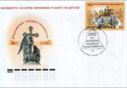 2012 FDC Canc St.Petersburg Russia Russland Russie Rusia 1150th Anniversary Of Origin Of Russian Statehood Mi 1867 - 1992-.... Fédération