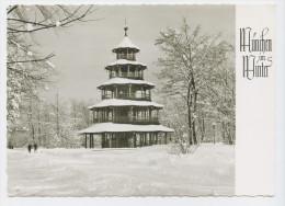 München Im Winter, Chinesischer Turm. Normalformat - Muenchen