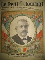 PRESIDENT DE LA REPUBLIQUE MILLERAND ELYSEE MEMENTO FISCAL LE PETIT JOURNAL 1920