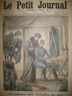 ROI REINE BELGIQUE QUARTIER GENERAL COMBAT AUGUSTOWO LOUPS LE PETIT JOURNAL 1914