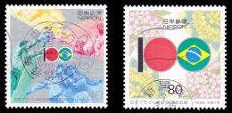 Japan Scott #2455-2456, set of 2 (1995) Japan Brazil Friendship, Used