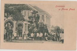 CPA CAMBODGE CAMBODIA Souvenir De Pnom Penh Elephants 1904