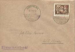 Besatzung - Einschreibebr. Luxemburg - Wilz (Wiltz) 1944 - Parteitag - 11. Jahrestag Der Machtergreifung - Besetzungen