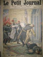 TURQUIE CONSTANTINOPLE COUP D'ETAT MEUTRE DE NAZIM PACHA LE PETIT JOURNAL 1913