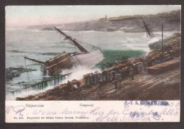 CL18) Valparaiso - Temporal - Shipwrecks In Storm - Posted 1908 - Chile