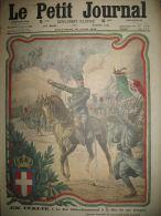 WW1 ITALIE ROI VICTOR-EMMANUEL A LA TETE DE SES TROUPES LE PETIT JOURNAL 1915