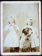 JUMEAUX  JUMELLES  TWIN  PHOTOGRAPHIE DE DEUX JUMELLES  11 X 9 Cm PHOTO RECOUPEE VOIR LE DOS - Photos
