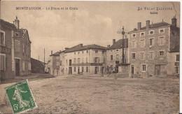 CPA MONTFAUCON LA PLACE BON ETAT - Otros Municipios