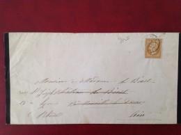 Cad SENLIS Et VONNAS Ambulant MONT CENIS à MACON  Décès Femme Du Maire De SENLIS Laurens De WARU 1861 - Marcophilie (Lettres)