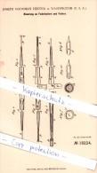 Original Patent - Joseph Goodman Hester In Washington , USA , 1881 , Federhalter Und Feder !!! - Federn
