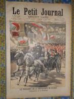 LE PETIT JOURNAL 05/09/ 1897 PRESIDENT REPUBLIQUE FELIX FAURE RUSSIE EMPEREUR PETERHOF