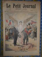 LE PETIT JOURNAL 12/09/ 1897 FRANCE RUSSIE ALLIANCE RETOUR DU PRESIDENT FELIX FAURE DUNKERQUE