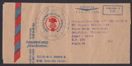Streifbandsendung Aus Warschau Warszawa Nach Algerien Hydra Taxe Percue Wrapper Program - Briefe U. Dokumente