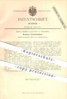 Original Patent - Ernst Moritz Eckardt In Dresden , 1882 , Streichholzbüchse , Streichhölzer , Zündhölzer !!! - Zündholzschachteln