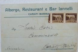 CARIATI MARINA COSENZA - ALBERGO, RESTAURANT E BAR NICOLA IANNELLI 1920 C. - Cosenza