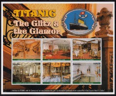 Madagascar MNH Scott #1382 Sheet Of 6 Different Scenes From The Exotic Interior Of The ´Titanic´ - Madagascar (1960-...)