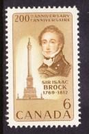 CANADA 1969, # 501.  SIR ISAAC BROCK & MONUMENT   MNH - 1952-.... Règne D'Elizabeth II
