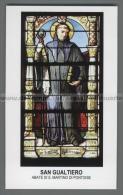 Xsa-12238 S. San GUALTIERO ABATE DI S. MARTINO DI PONTOISE GAUTHIER WALTER PICCARDIA REBAIS BERTACOURT Santino Holy Card - Religion & Esotérisme
