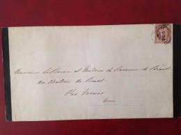 Décès Baron De GRAVIER (ou GRAVIEU)  En 1873 Cad BEAUNE Et VONNAS - Marcophilie (Lettres)