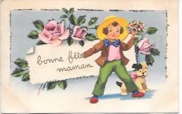 BONNE FETE MAMAN ! - Carte Pailletée - Editions IDA - Fête Des Mères